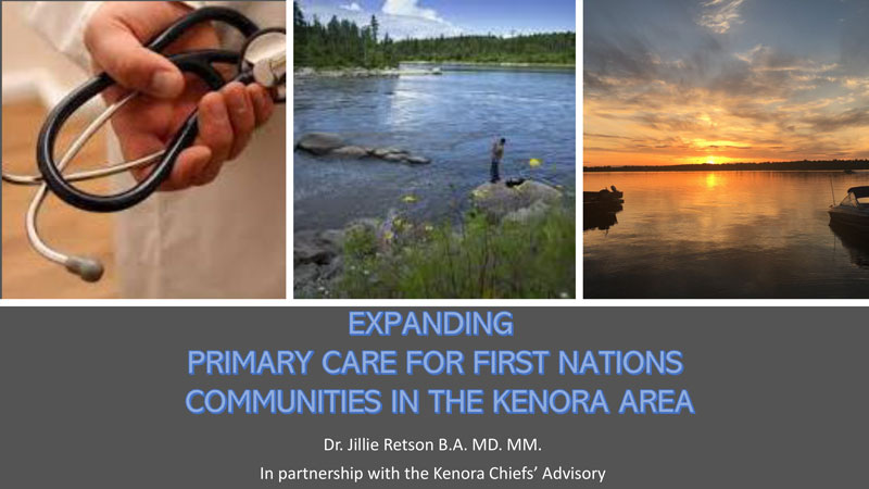 Cover page for Expanding Primary Care for First Nations Communities in the Kenora Area Report