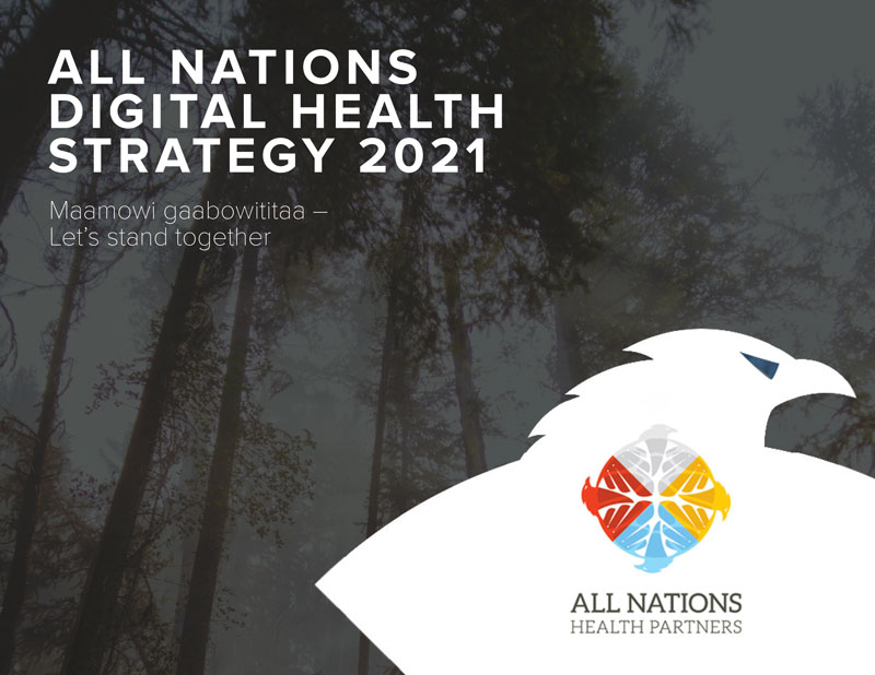 Cover page for All Nations Digital Health Strategy 2021